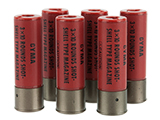CYMA 30 Round Shotgun Shell Magazines for 3-round burst Airsoft Shotguns - Pack of 6 Shells