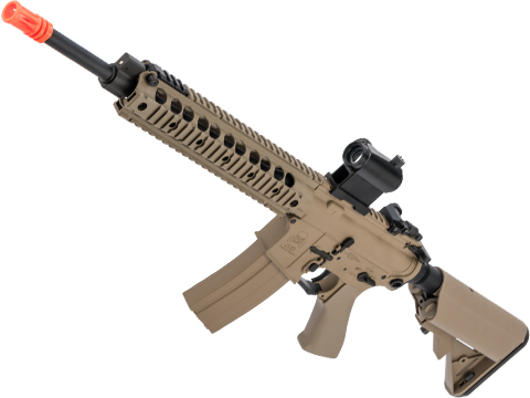 CYMA Sport SR16 E3 Full Metal Li-Po Ready High Performance Competition Airsoft AEG (Color: Tan / Long)