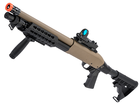 CYMA Sport Tactical M3 Super 90 3-Round Burst Airsoft Shotgun (Model: KeyMod Tactical / Desert Tan)