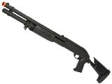 CYMA M3 3-Round Burst Multi-Shot Shell Loading Airsoft Shotgun (Model: Retractable Stock Full Metal)