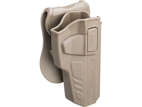 Matrix G3 Hardshell Adjustable Holster for M9 Series Airsoft Pistols (Type: Flat Dark Earth / Paddle Attachment)