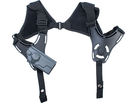 EMG Helios Matrix Hardshell Adjustable Holster for Hudson H9 Series Pistols (Type: Grey / Shoulder Harness Attachment)