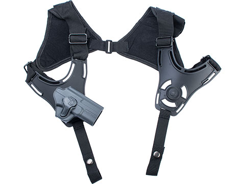 EMG Helios Matrix Hardshell Adjustable Holster for SAI BLU Series Pistols (Type: Grey / Shoulder Harness Attachment)