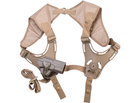 EMG Helios Matrix Hardshell Adjustable Holster for SAI BLU Series Pistols (Type: Flat Dark Earth / Shoulder Harness Attachment)