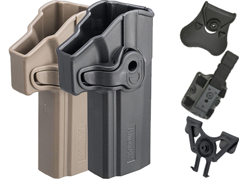 Matrix Hardshell Adjustable Holster for P320 Full Size Series Pistols (Type: Black / No Mount)