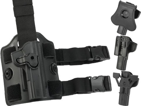 Cytac Hard Shell Adjustable Holster for TT-33 Series Pistols (Mount: Paddle Attachment / Black)