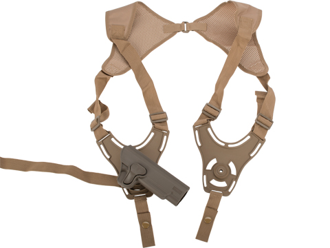 Matrix Hardshell Adjustable Holster for 1911 Series Airsoft Pistols (Type: Flat Dark Earth / Shoulder Holster)