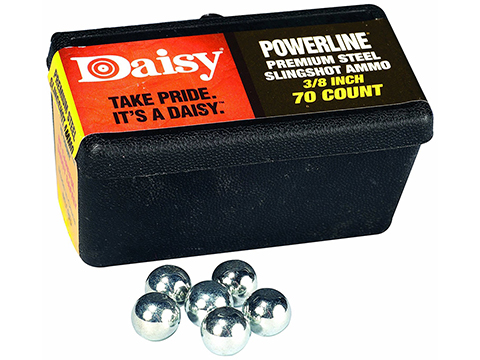 Daisy 3/8 Inch Steel Shot for Daisy Sling Shots - 70 Count