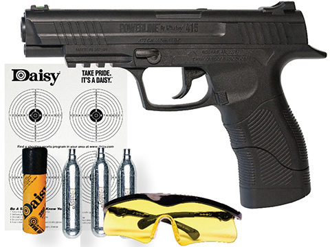 Daisy 415 CO2 Powered Semi-Auto Air Pistol Starter Package (.177 cal AIRGUN NOT AIRSOFT)