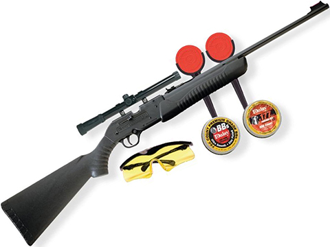 Daisy Powerline Model 901 Dual Ammo BB / Pellet Air Rifle Starter Package (4.5mm/.177 Air Gun)