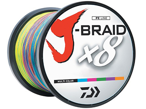 Daiwa J-Braid 3300YDS / 3000M 8-Strand Woven Round Braid Line (Weight: 65 Pounds / Multicolor)