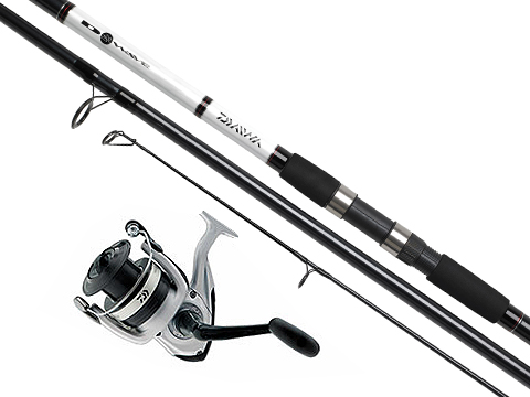Daiwa D-Wave Reel & Fiber Glass Saltwater Fishing Rod Combo