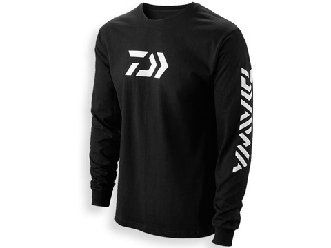 Daiwa Vector Print Logo Long Sleeve Shirt (Color: Black / X-Large)