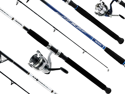 Daiwa D-Wave Reel & Fiber Glass Saltwater Fishing Rod Combo (Model: DWB40-B/F802M)