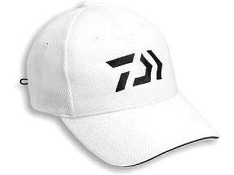 Daiwa D-VEC 3D Embroidered Logo Jersey Mesh Cap (Color: White)