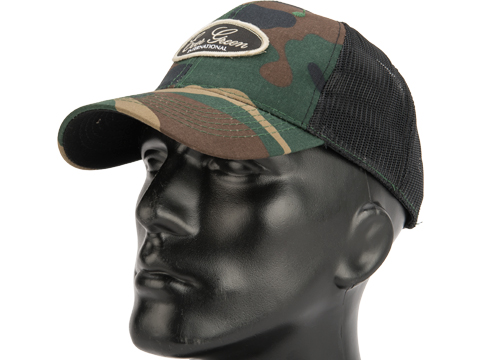 Daiwa Evergreen Mesh Trucker Cap (Color: Woodland Camo)