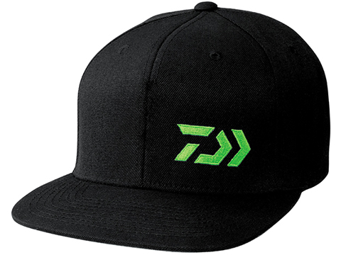 Daiwa D-VEC Embroidered Logo Snap Back Flatbill Cap (Color: Black / Green)