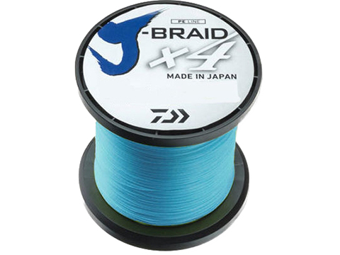 Daiwa J-Braid x4 Braided Fishing Line (Color: Island Blue / 50 Pounds / 3000 Yards)