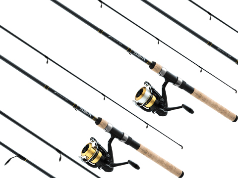 Daiwa D-Cast Shock Freshwater Spinning Rod Combo DSK-B Reel & Fiberglass Fishing Rod