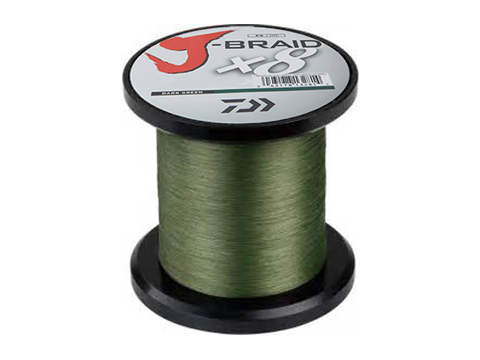 Daiwa J-Braid 8-Strand Woven Round Braid Line (Weight: 80 Pounds / Dark Green / 550YDS / 500M)