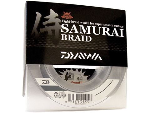 Daiwa Samurai Braid 8 Strand Woven Line (Weight: 20 Pounds / Green / 300 Yards)