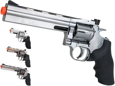 Dan Wesson 715 CO2 Powered Airsoft Revolver (Version: Full Power Version / Silver / 6)