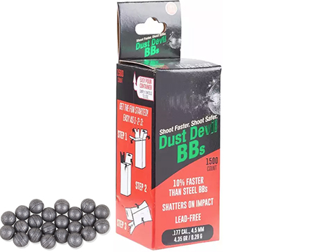 Dust Devil Frangible 4.5mm BBs by Air Venturi - 1500 Rounds