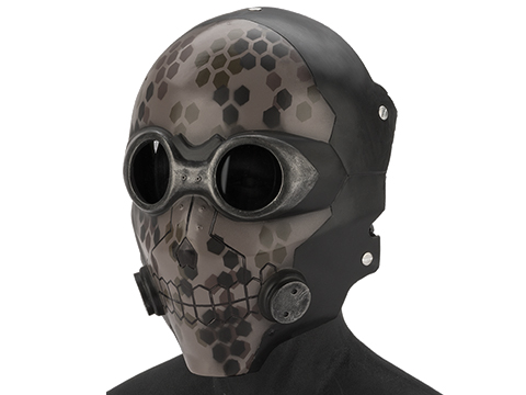 Evike.com R-Custom Fiberglass  Death Gun Full Face Mask  with Smoked Lenses (Color: Digital Camo / Grey Lens)