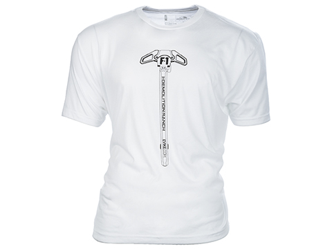 Bunker Branding Co. Demolition Ranch Charging Handle White T Shirt (Size: Small)