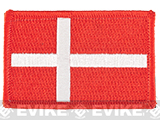 Evike.com Tactical Embroidered Denmark Flag Patch