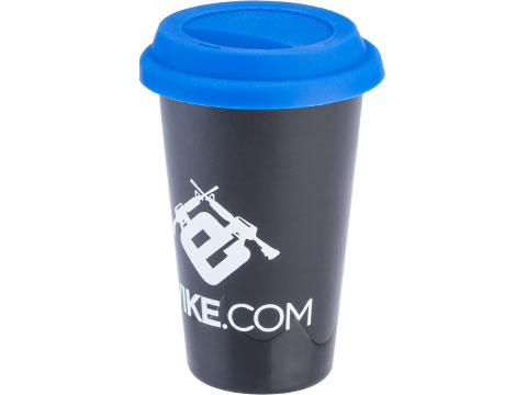 Evike.com 11oz Double-Walled Ceramic Tumbler w/ Silicone Top