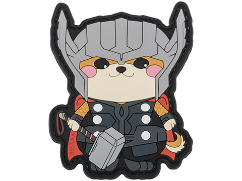 Evike.com The DOGE Hook & Loop PVC Morale Patch (Style: Doge God of Thunder)