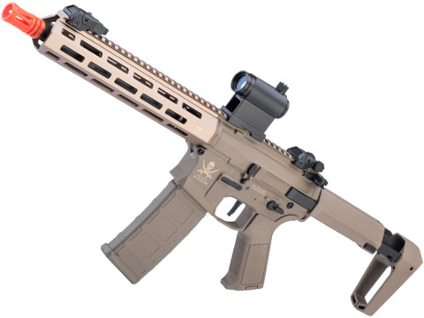 Matrix Calico Jack Polymer M4 Airsoft AEG Rifle w/ M-LOK Handguard & MOSFET (Model: SBR / Tanker Stock / Tan)