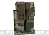 Pro-Arms Tactical MOLLE Double Pistol Magazine Pouch - Camo