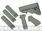 DYTAC SOPMOD Furniture Kit for M4 / M16 Series Airsoft Rifles - Type B / Foliage Green