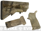 Dytac Furniture Kit w/ Long Grip for M4 and M16 Airsoft AEG Rifles (Color: ATACS AU)