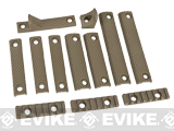 DYTAC UXR III Rail Panel Kit for UXR III Series M4/M16 Airsoft Rail Systems - Dark Earth