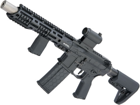 EMG Helios F4 Defense Licensed F4-15 ARS-L MLOK M4 Airsoft AEG Rifle (Model: PDW / Black)