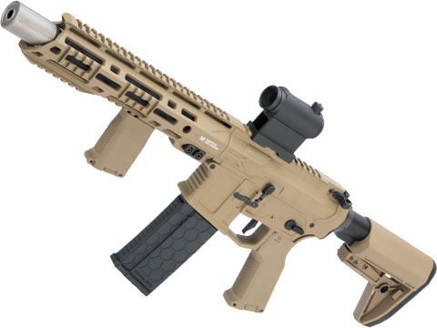 EMG Helios F4 Defense Licensed F4-15 ARS-L MLOK M4 Airsoft AEG Rifle (Model: PDW / Dark Earth)