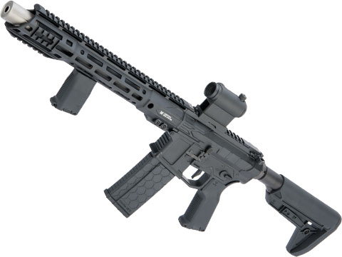 EMG Helios F4 Defense Licensed F4-15 ARS-L MLOK M4 Airsoft AEG Rifle (Model: PDW-X / Black)
