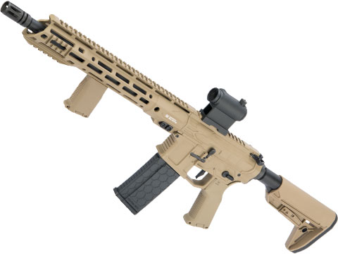 EMG Helios F4 Defense Licensed F4-15 ARS-L MLOK M4 Airsoft AEG Rifle (Model: Carbine / Dark Earth)