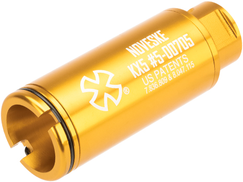 EMG Noveske Flash Hider w/ Built-In ACETECH Lighter S Ultra Compact Rechargeable Tracer (Model: KX5 / Anodized Gold)