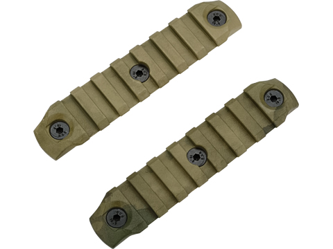 DyTac Polymer Keymod Rail Segments Set (Color: A-TACS FG / 2X 7 Slot)