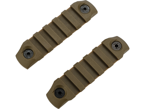 DyTac Polymer Keymod Rail Segments Set (Color: Dark Earth / 2X 5 Slot)