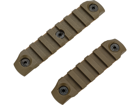 DyTac Polymer Keymod Rail Segments Set (Color: Dark Earth / 1X 7 Slot 1X 5 Slot)