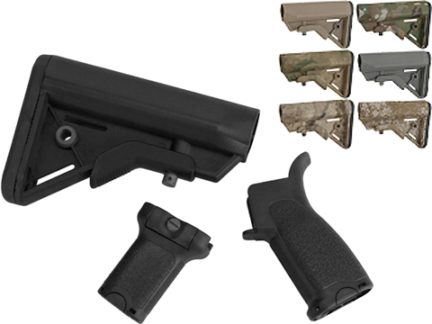 Dytac Furniture Kit w/ Short Grip for M4 and M16 Airsoft AEG Rifles