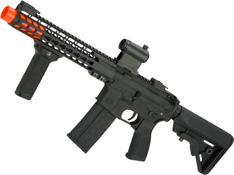 DYTAC SLR Solo Lite SLR15 Mid-SBR Airsoft AEG with Linear Compensator (Color: Black Cerakote)