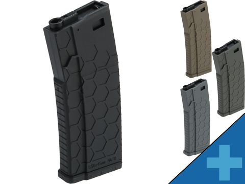 EMG Helios Hexmag Airsoft Polymer 300rd FlashMag Magazine for M4 / M16 Series Airsoft AEG Rifles (Color: Black / Single)