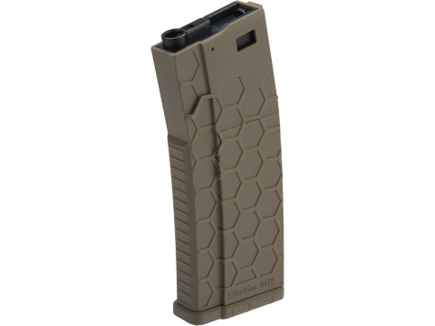 Hexmag Airsoft Polymer 300rd FlashMag Magazine for M4 / M16 Series Airsoft AEG Rifles (Color: Dark Earth / Single)