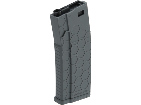 EMG Helios Hexmag Airsoft Polymer 300rd FlashMag Magazine for M4 / M16 Series Airsoft AEG Rifles (Color: Grey / Single)